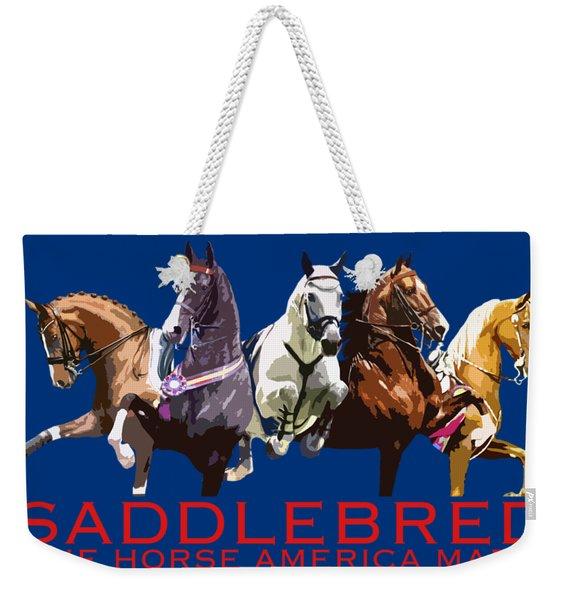 Saddlebred - The Horse America Made Weekender Tote Bag