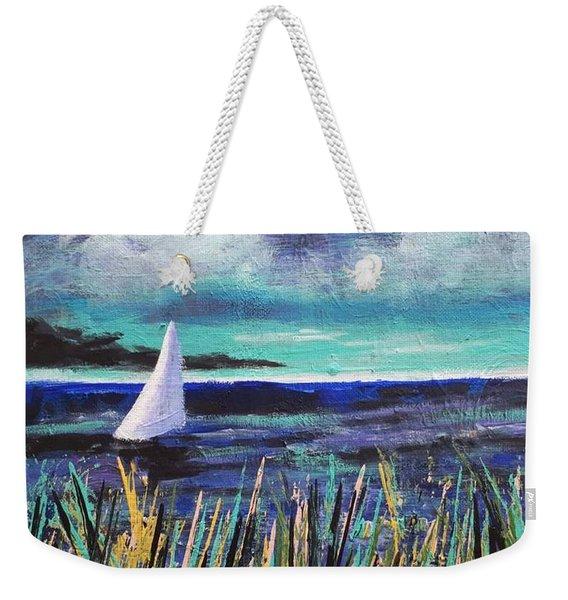 Sailboat Drifting Weekender Tote Bag