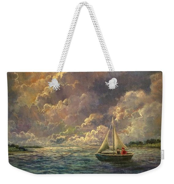 Sailing The Divine Light Weekender Tote Bag