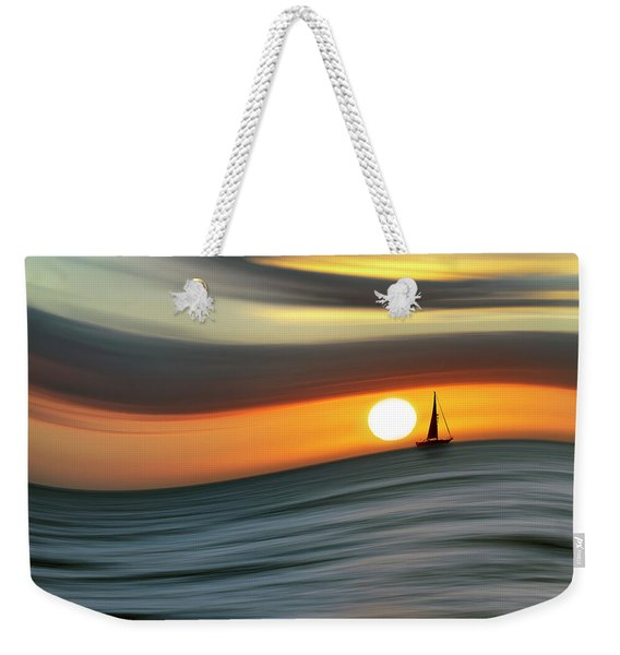 Sailing To The Sunset Weekender Tote Bag