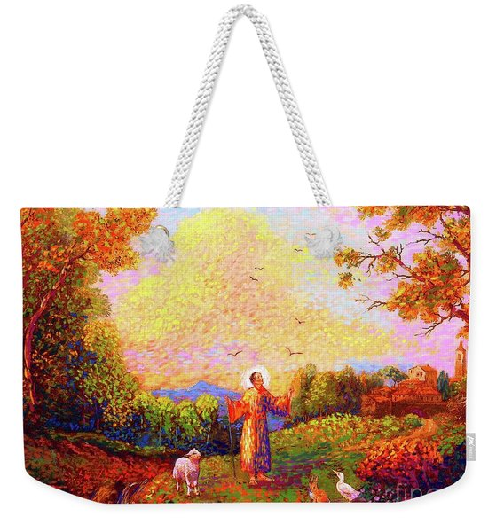 Saint Francis Of Assisi Weekender Tote Bag