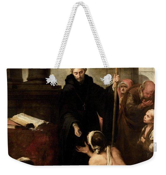 Saint Thomas Of Villanueva Giving Alms To The Poor, 1669 Weekender Tote Bag