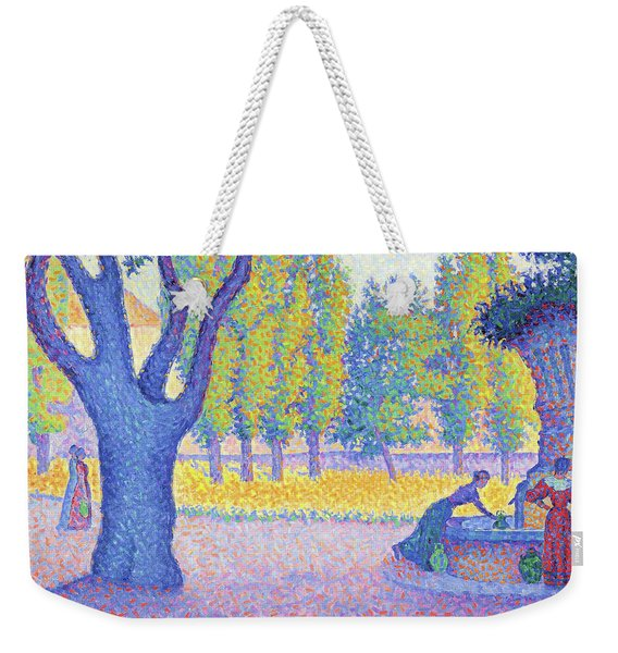 Saint-tropez, Fountain Of The Lices - Digital Remastered Edition Weekender Tote Bag