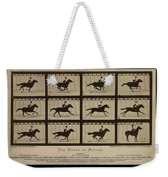 Sallie Gardner At A Gallop - Horse In Motion Weekender Tote Bag