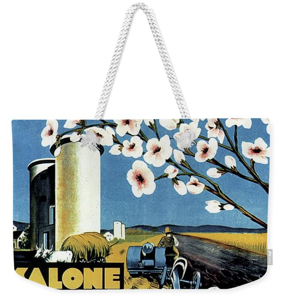 Salone Delle Macchine Agricole - Padova, Padua, Italy - Retro Travel Poster - Vintage Poster Weekender Tote Bag