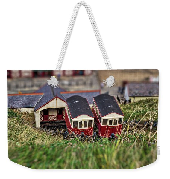 Weekender Tote Bag featuring the photograph Saltburn Tramway by Scott Lyons