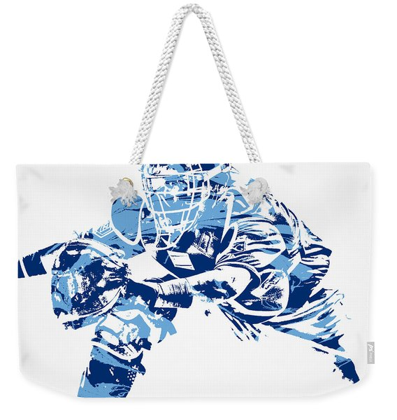 Salvador Perez Kansas City Royals Pixel Art 1 Weekender Tote Bag