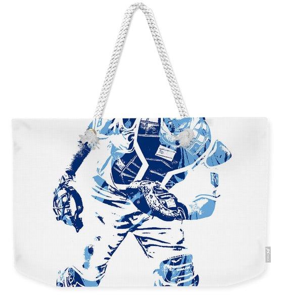 Salvador Perez Kansas City Royals Pixel Art 2 Weekender Tote Bag