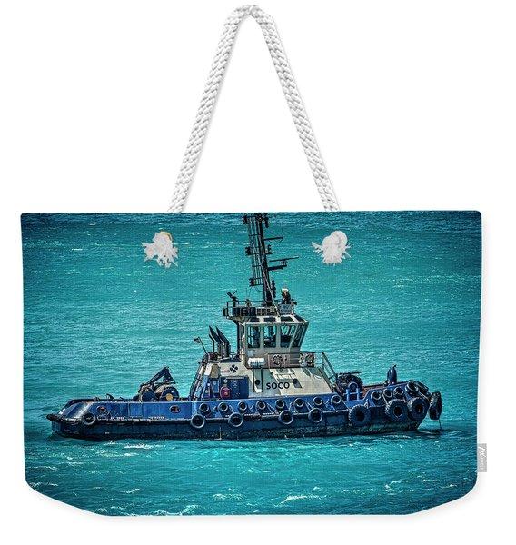 Salvage Tug Boat Weekender Tote Bag