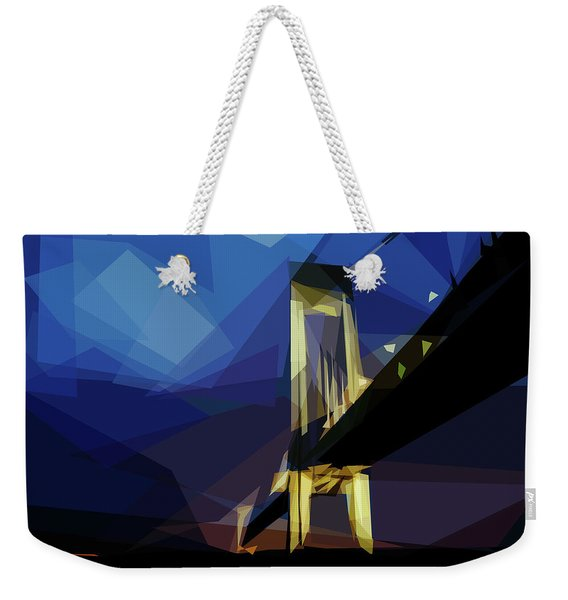 Weekender Tote Bag featuring the digital art San Francisco Bridge by ISAW Company
