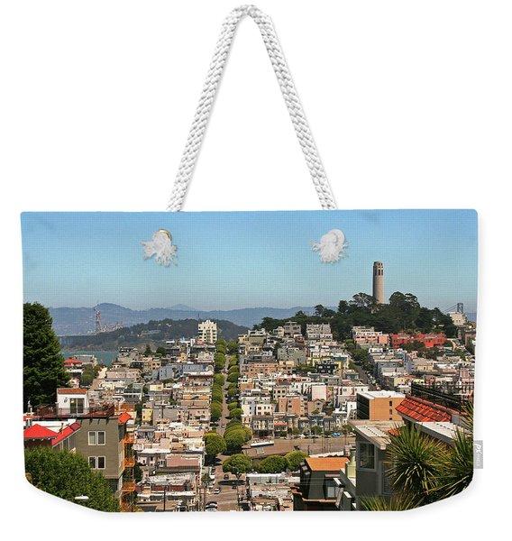 San Francisco - Telegraph Hill Weekender Tote Bag