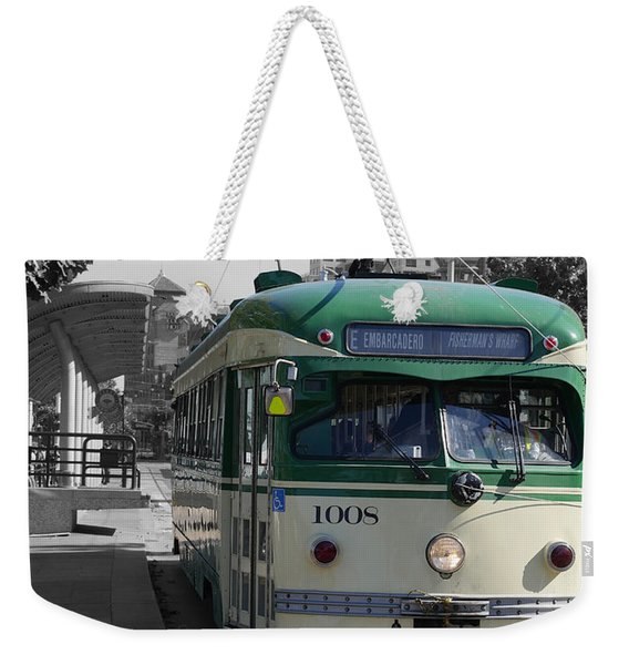 San Francisco - The E Line Car 1008 Weekender Tote Bag