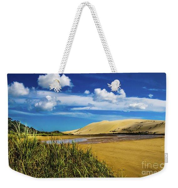 90 Miles Beach, New Zealand Weekender Tote Bag