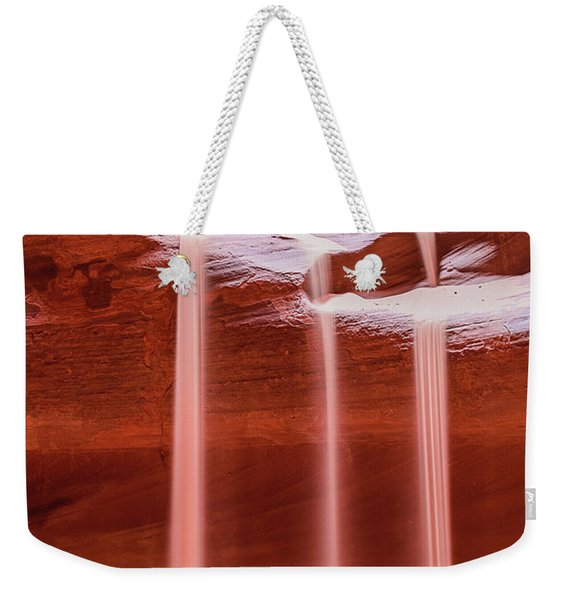 Weekender Tote Bag featuring the photograph Sand Of Time by Dheeraj Mutha