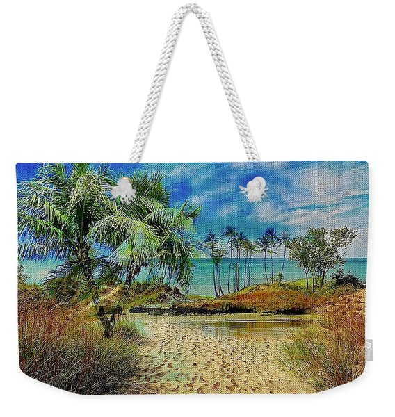 Sand To The Shore Montage Weekender Tote Bag
