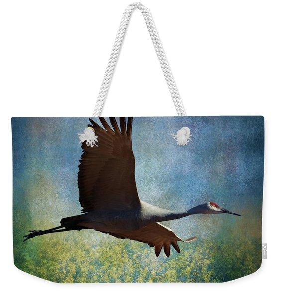 Sandhill Crane Art Weekender Tote Bag