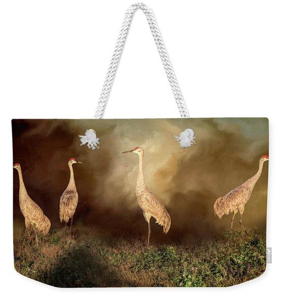 Sandhill Crane Family Weekender Tote Bag