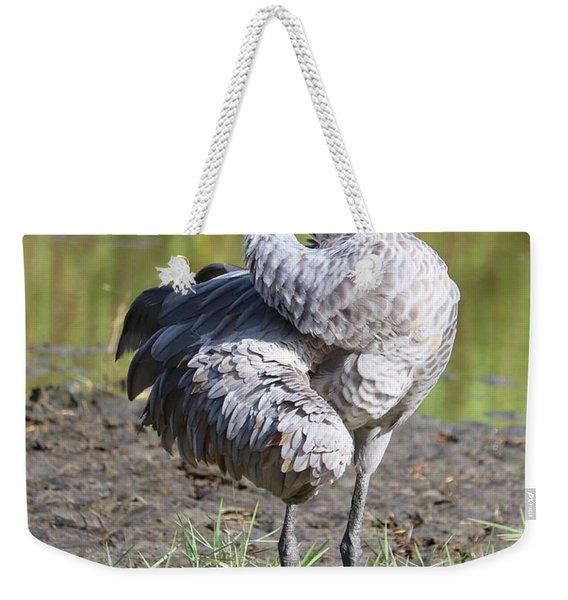 Sandhill Side Profile Weekender Tote Bag