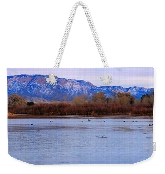 Sandia And The Rio In The Evening Weekender Tote Bag