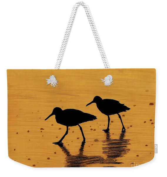 Sandpipers - At - Sunrise Weekender Tote Bag