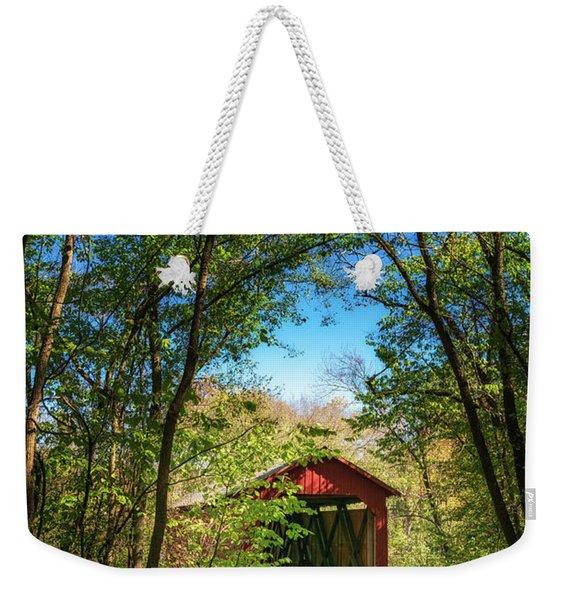 Sandy Creek Covered Bridge Weekender Tote Bag