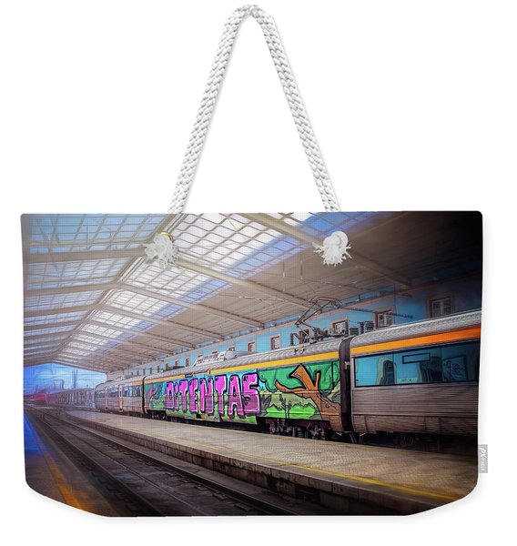Santa Apolonia Train Station Lisbon Weekender Tote Bag