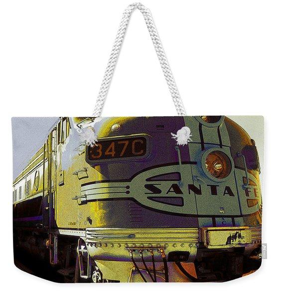 Santa Fe Railroad 347c - Digital Artwork Weekender Tote Bag