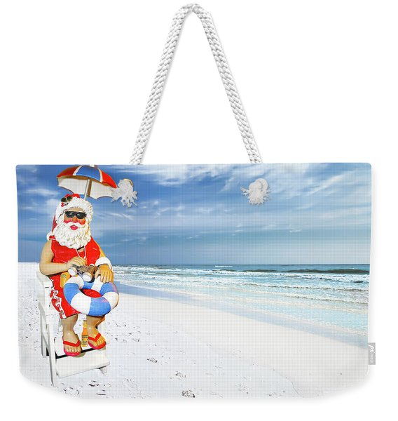 Santa Lifeguard Weekender Tote Bag