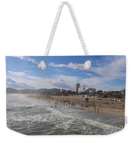 Santa Monica Beach , Santa Monica, California Weekender Tote Bag