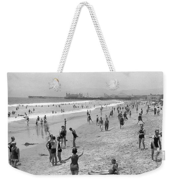 Santa Monica Beach Circa 1920 Weekender Tote Bag