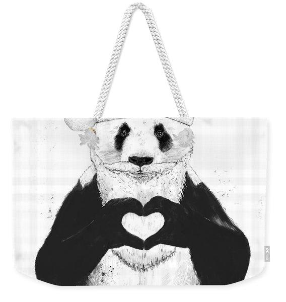 Santa Panda Weekender Tote Bag
