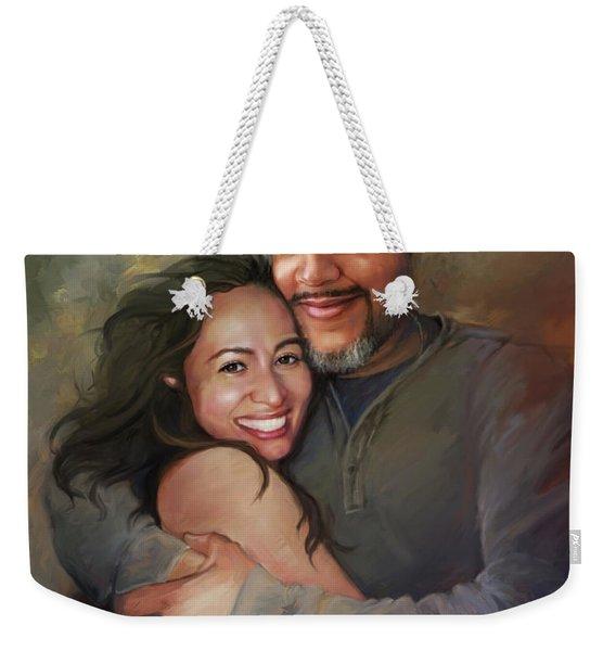 Sara And Ahmed Weekender Tote Bag