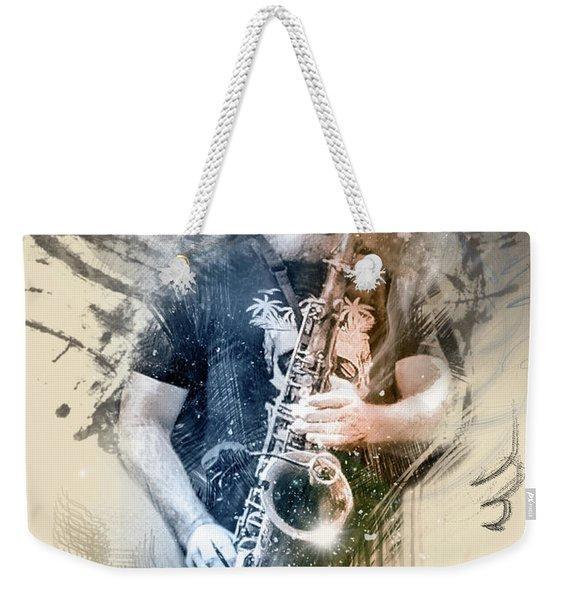 Sassy Sax Weekender Tote Bag