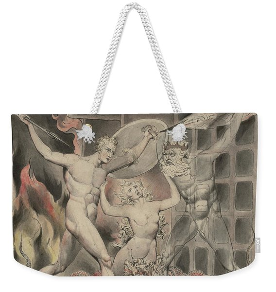 Satan Comes To The Gates Of Hell Weekender Tote Bag