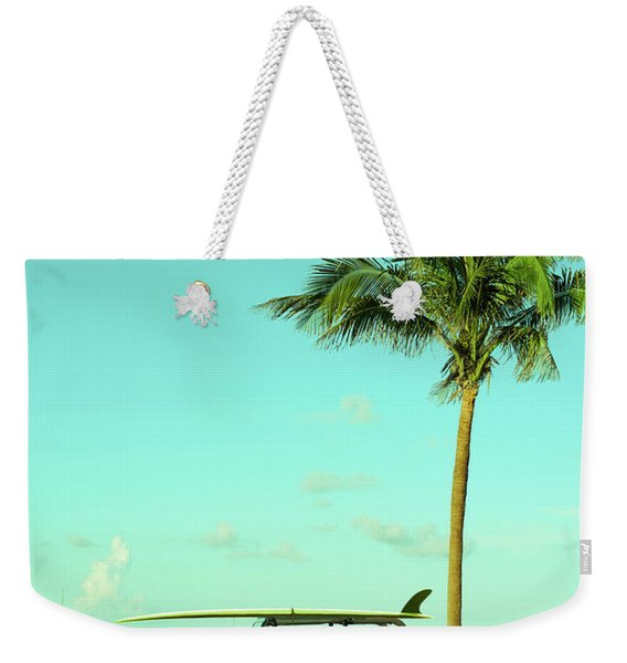 Saturday Surfer Jeep Weekender Tote Bag