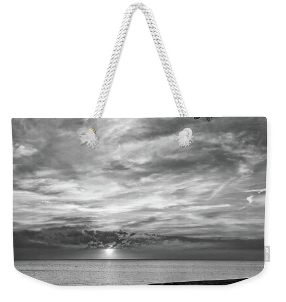 Sauble Beach Sunset - Heading Home Bw Weekender Tote Bag