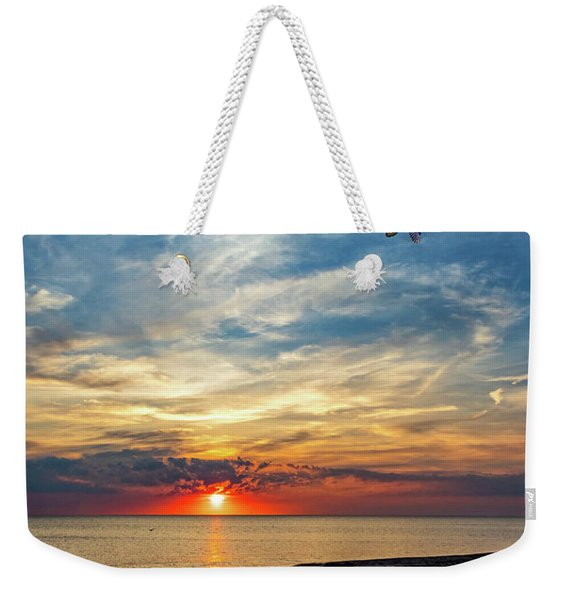 Sauble Beach Sunset - Heading Home Weekender Tote Bag