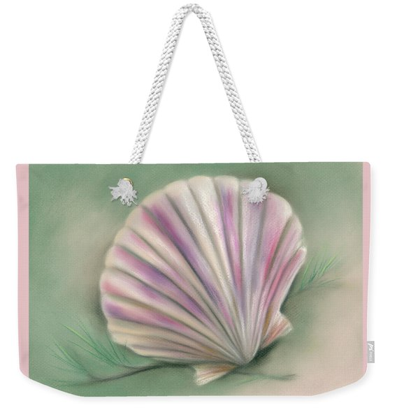 Scallop Shell With Pine Twigs Weekender Tote Bag