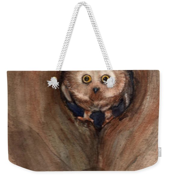 Scardy Owl Weekender Tote Bag