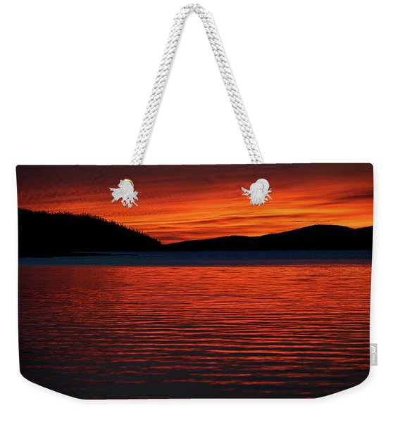 Weekender Tote Bag featuring the photograph Scarlet by Doug Gibbons