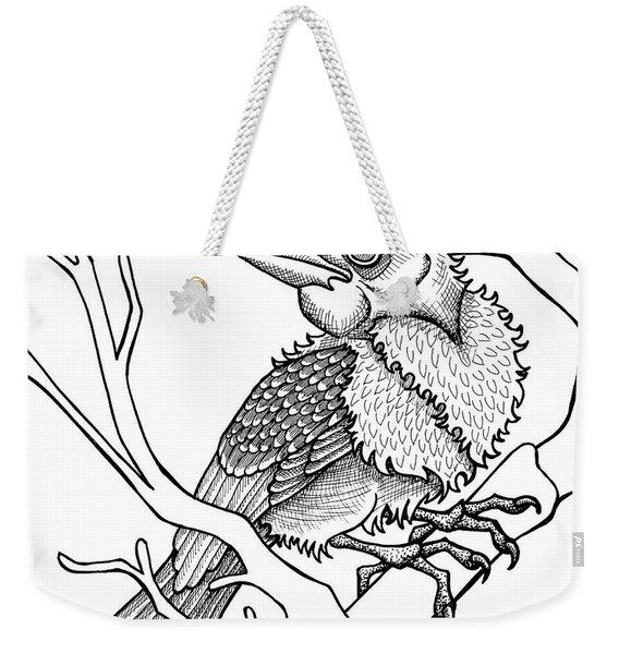 Scarlet Tanager Weekender Tote Bag