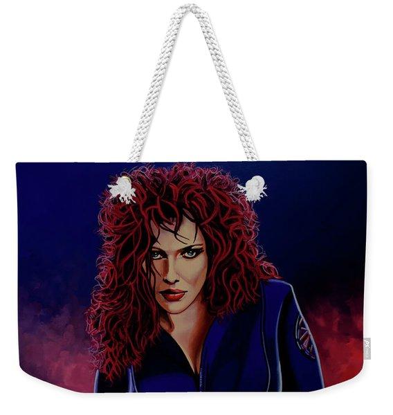 Scarlett Johansson As Black Widow Weekender Tote Bag