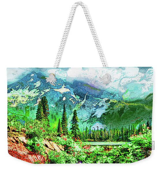 Scenic Mountain Lake Weekender Tote Bag