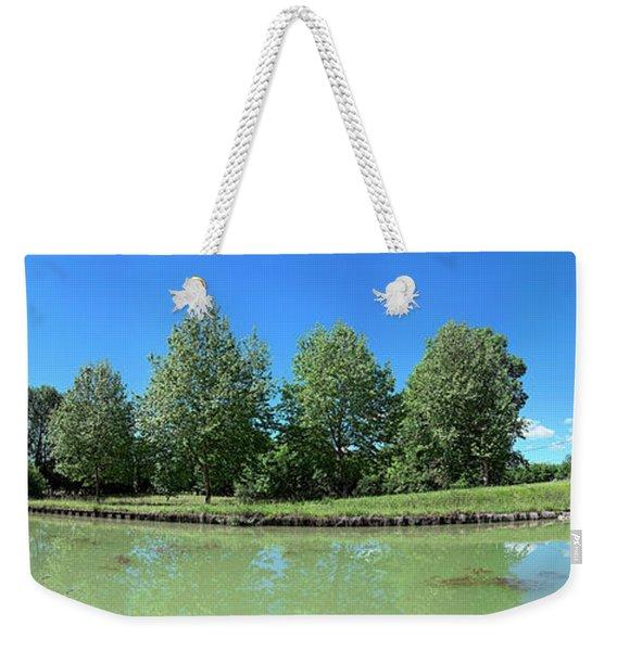 Scenic View Of Burgundy Canal Weekender Tote Bag