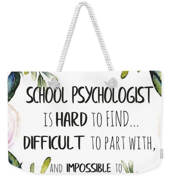 School Psychologist Thank You Note Weekender Tote Bag