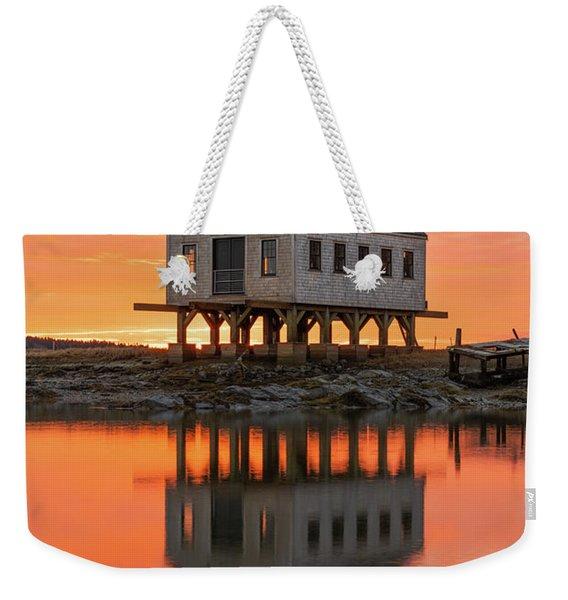 Scorched Symmetry Weekender Tote Bag
