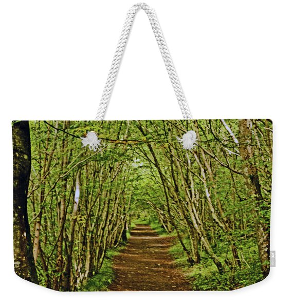 Scotland. Killiecrankie. Path Through The Trees. Weekender Tote Bag