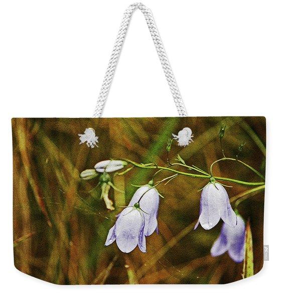 Scotland. Loch Rannoch. Harebells In The Grass. Weekender Tote Bag