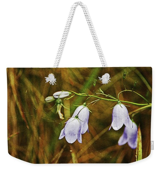 Scotland. Loch Rannoch. Harebells In The Grass. Weekender Tote Bag
