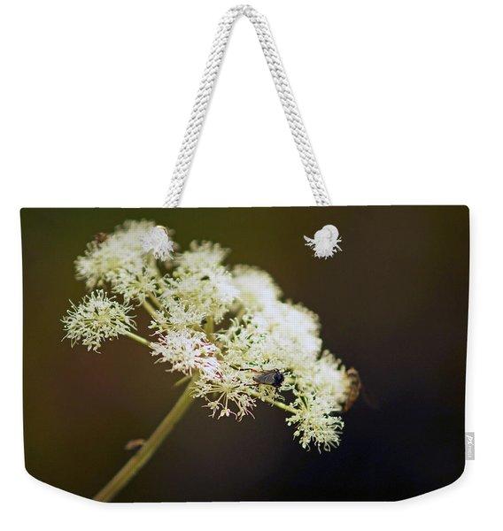 Scotland. Loch Rannoch. White Flowerhead. Weekender Tote Bag